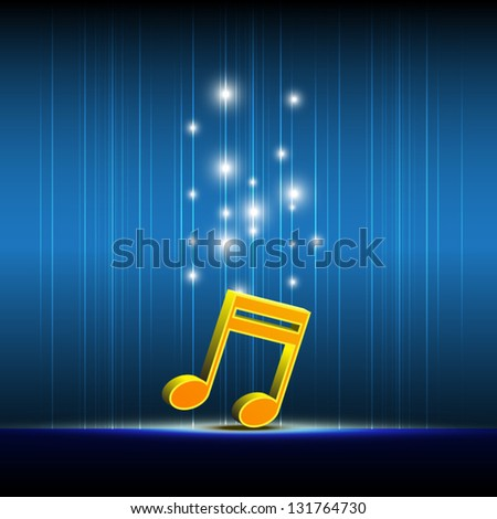 music icon on stage - stock vector
