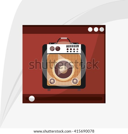 Music icon. Retro concept. Flat illustration, editable vector