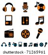 music icon set - stock vector