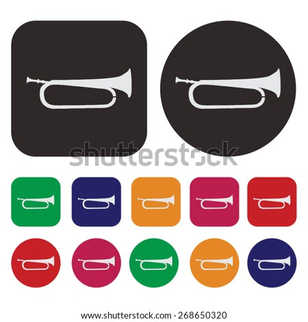 Music icon / trombone icon - stock vector