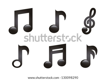 music icons over white background. vector illustration - stock vector