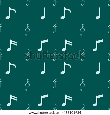 Music icons pattern vector