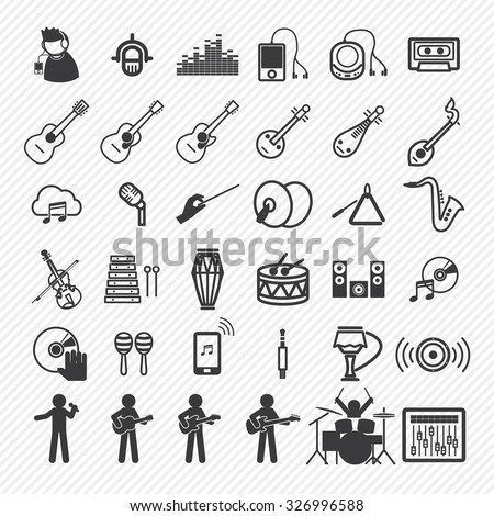 Music Icons set 2. illustration eps10 - stock vector