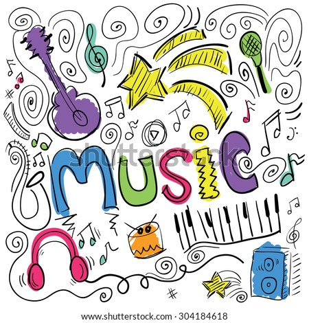 Music illustration background design