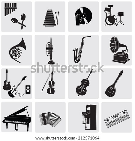 Music instruments. - stock vector