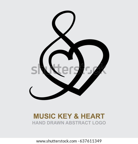 Music Key Heart Music Theme Logo Stock Vector 637611349 Shutterstock