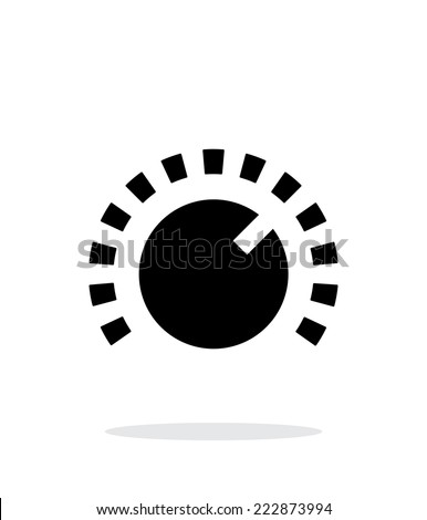 Music knob icon on white background. Vector illustration. - stock vector