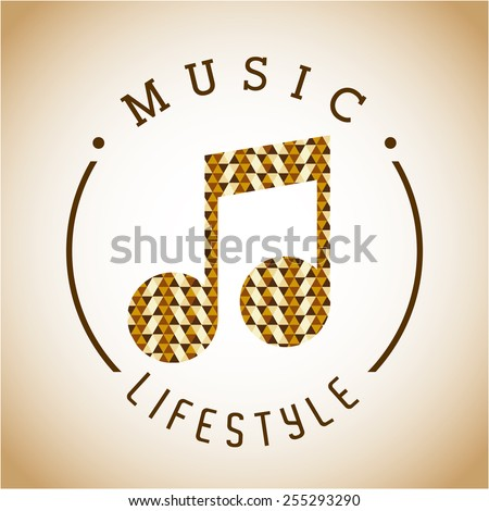 music lifestyle design, vector illustration eps10 graphic  - stock vector