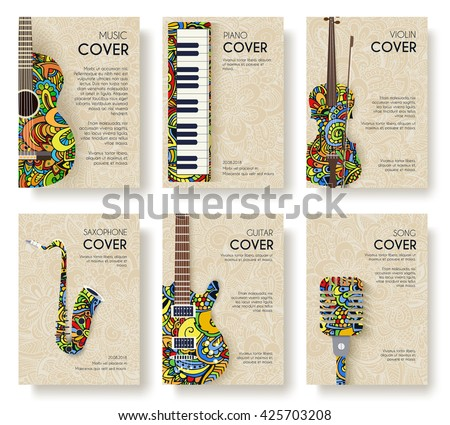 Music cover. Music logo. Music layout. Music creative. Music poster. Music invite. Music brochure. Music festival. Music design. Music card. Music book. Music jpg. Music eps. Music art. Music magazine - stock vector