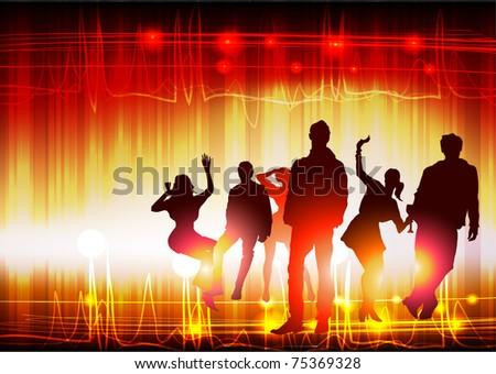 music night - stock vector