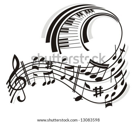 Music Note. - stock vector
