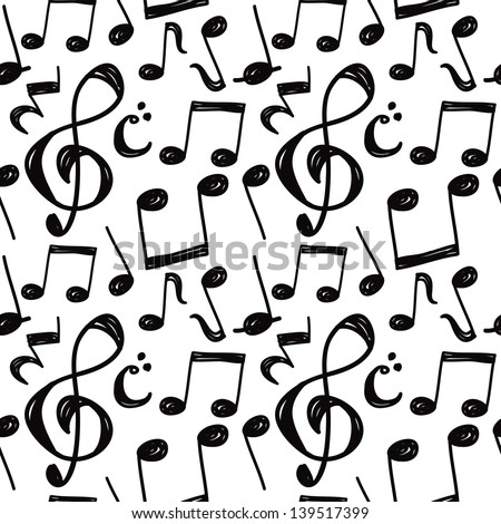 Music note background stock vector 139517399 shutterstock music note background voltagebd Gallery