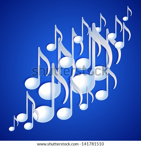 Music note background design. Vector illustration - stock vector