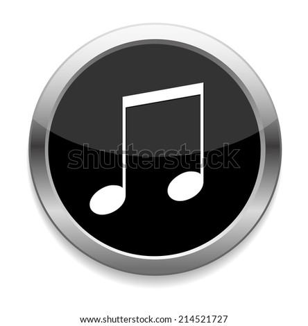music note button