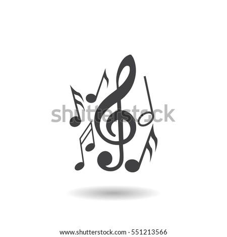 Music note icon 551213566 shutterstock music note icon voltagebd Gallery