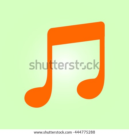 Music note icon. Musical symbol. Flat design style. - stock vector