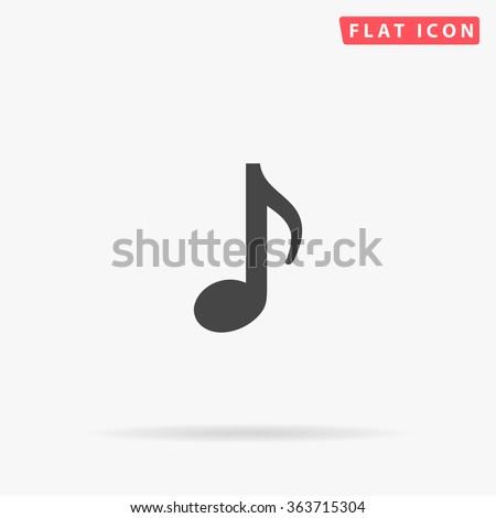 Music note Icon Vector.  - stock vector