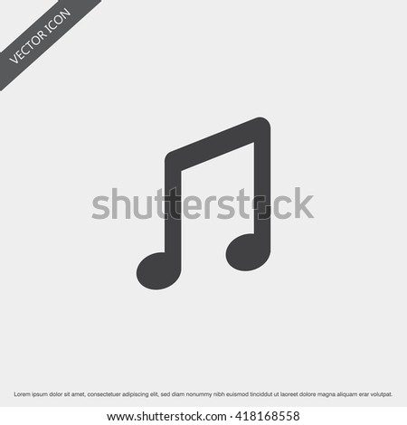 Music Note Icon.Vector Music Note Sign. - stock vector