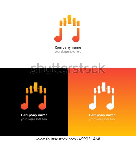Music Note Fastslow Motion Beat Flat Stock Vector 458204971
