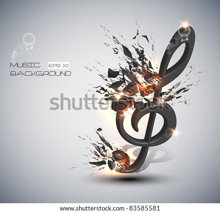 Music Note Melody Background - stock vector
