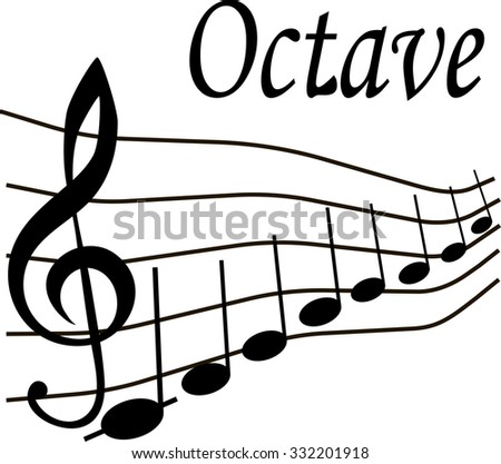 music note octave vector