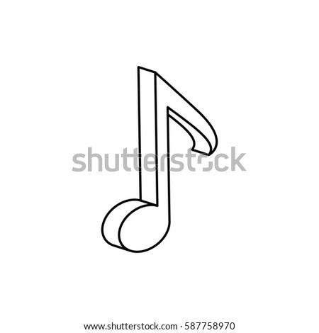 Music Note Symbol Icon Vector Illustration Stock Vector Hd Royalty