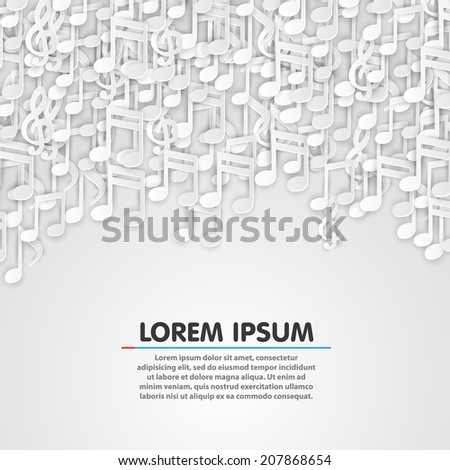 Music note white background design. Vector illustration - stock vector