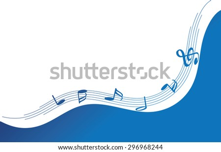 music note with background