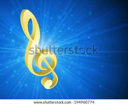Music notes and light effect vector background eps 10  - stock vector