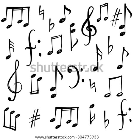 music notes stock photos royalty free images vectors shutterstock. Black Bedroom Furniture Sets. Home Design Ideas