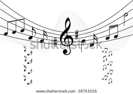 Abstract Music Background Vector Illustration Your Stock