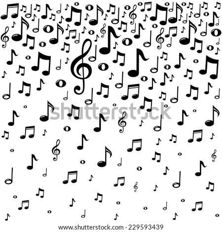 Music notes background vector illustration stock vector 229593439 music notes background vector illustration voltagebd Image collections