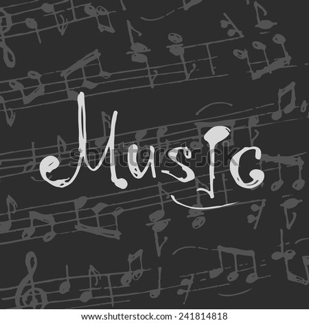 Music notes background. Vector illustration. - stock vector