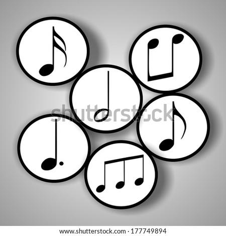 Music notes symbols - stock vector