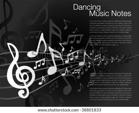Music notes template - stock vector