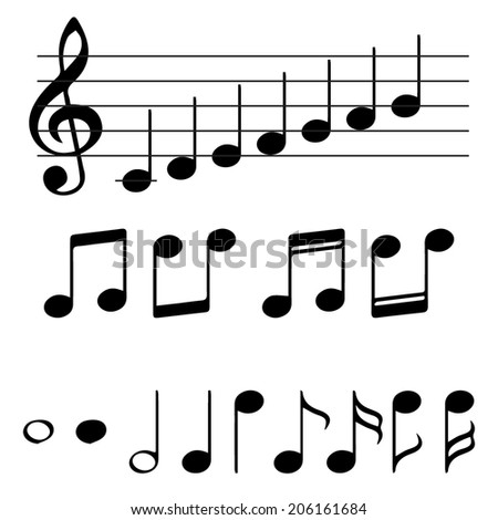 music notes vector - stock vector