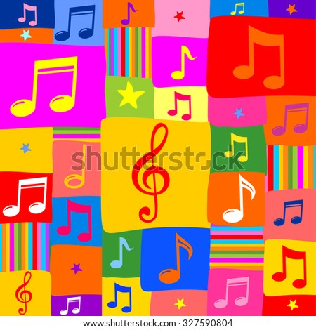 Music notes. Vector Illustration - stock vector