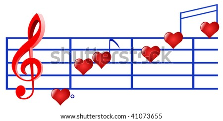 music of love - stock vector