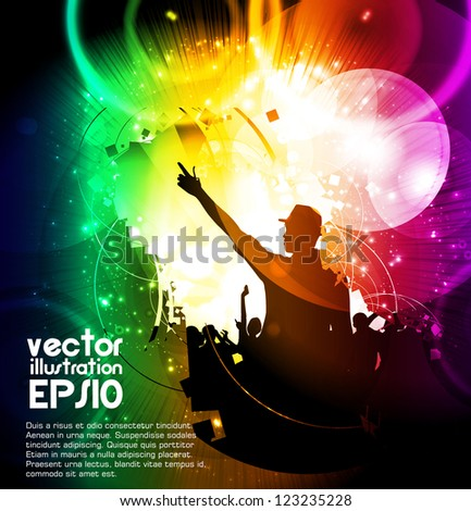 Music party - stock vector