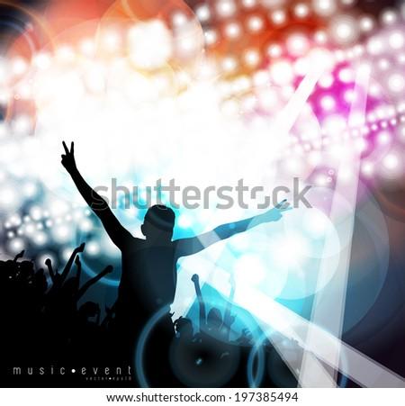 Music party illustration. Editable vector - stock vector