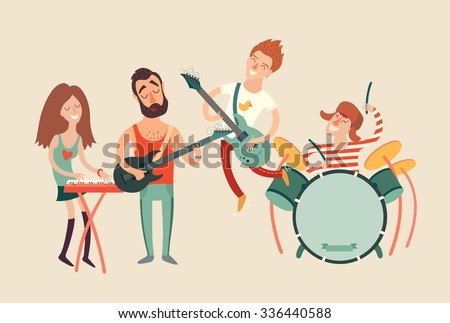 Music party poster, vector illustration - stock vector
