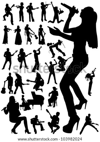 Music people - stock vector