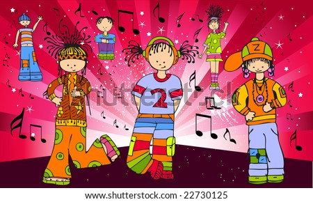 music people cartoon