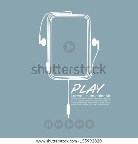 Music Player Vector Illustration EPS10 - stock vector