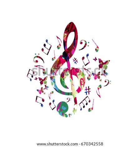 Music Logo Treble Clef Notes Stock Vector 64979383 - Shutterstock