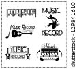 Music Record Labels, Vector illustration - stock vector