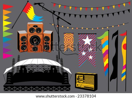 Music set 20 - stock vector