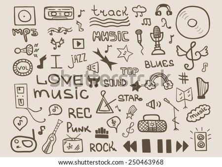 Music set design - stock vector