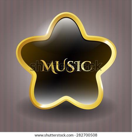 Music shiny star - stock vector