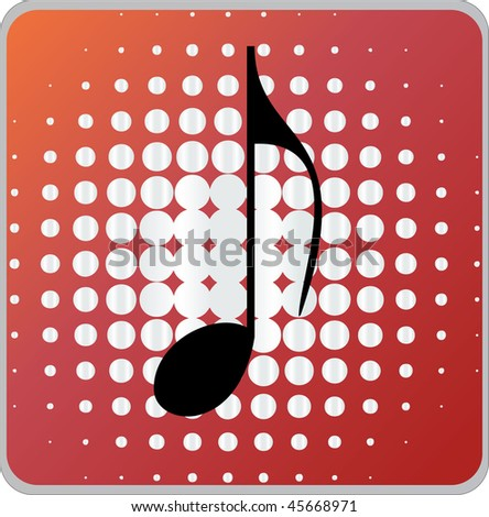 music sign icon button